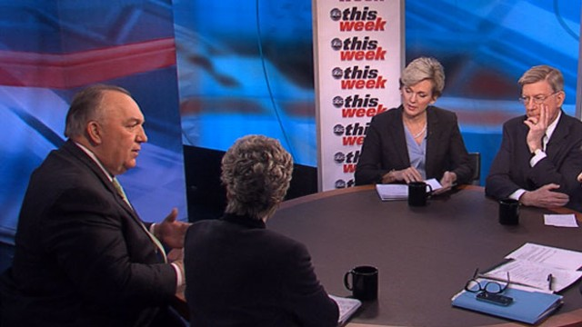 VIDEO: George Will, Cokie Roberts, Jennifer Granholm, and John Engler.