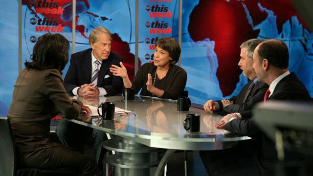 PHOTO: Roundtable: Economic Outlook Paul Krugman, Doug Holtz-Eakin, Sheila Bair and Roger Altman on national debt.