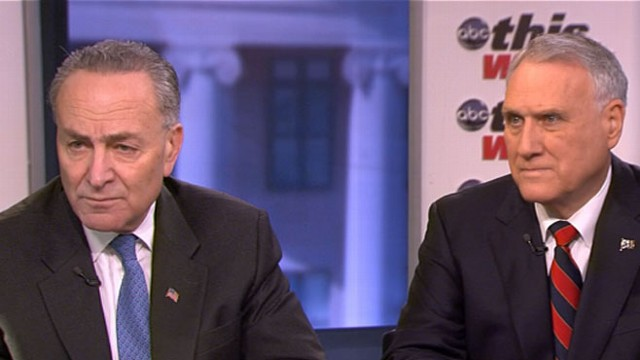VIDEO: Two key senators on the last-minute negotiations on the fiscal cliff.