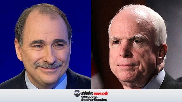John McCain and David Axelrod on This Week