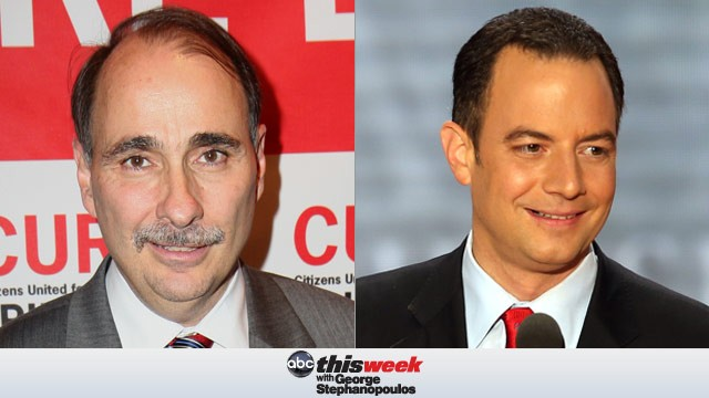 David Axelrod and Reince Priebus