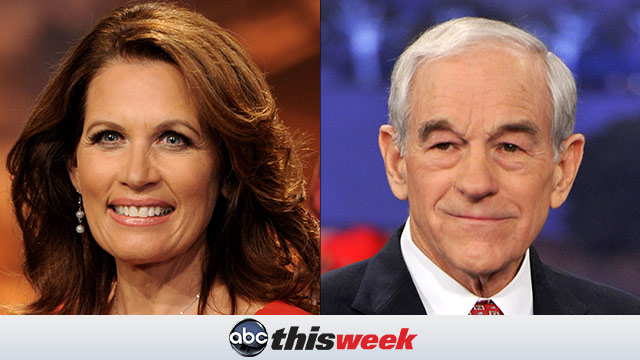 Michele Bachmann and Ron Paul on This Week
