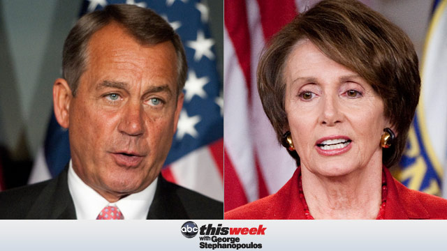 Speaker John Boehner and Democratic Leader Nancy Pelosi