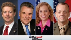 This Week With George Stephanopoulos featuring Sen. Rand Paul, Rep. Peter King, Rep. Debbie Wasserman Schultz and finally Ret. General John Allen.