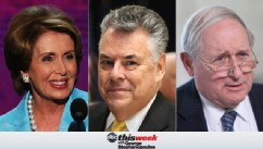 Rep. Nancy Pelosi, Rep. Peter King and Sen. Carl Levin