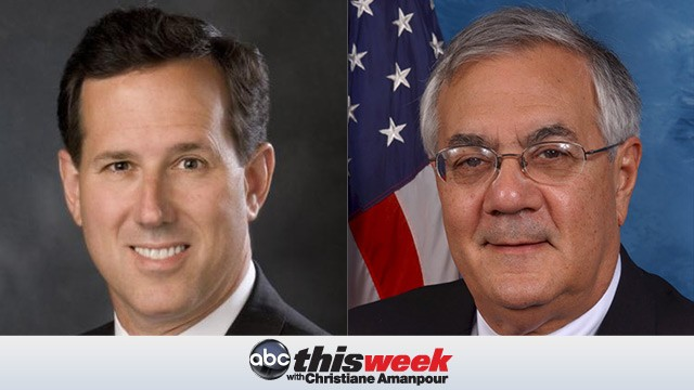 Rick Santorum and Rep Barney Frank on This Week