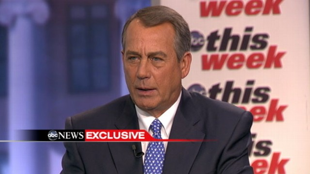 "VIDEO: The House speaker discusses his views on gay marriage on ""This Week."""