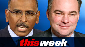 Photo: This Week guests, RNC Chairman Michael Steele and DNC Chairman Tim Kaine