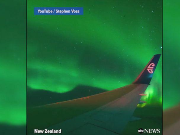 WATCH:  Charter flight offers gorgeous views of Aurora Australis