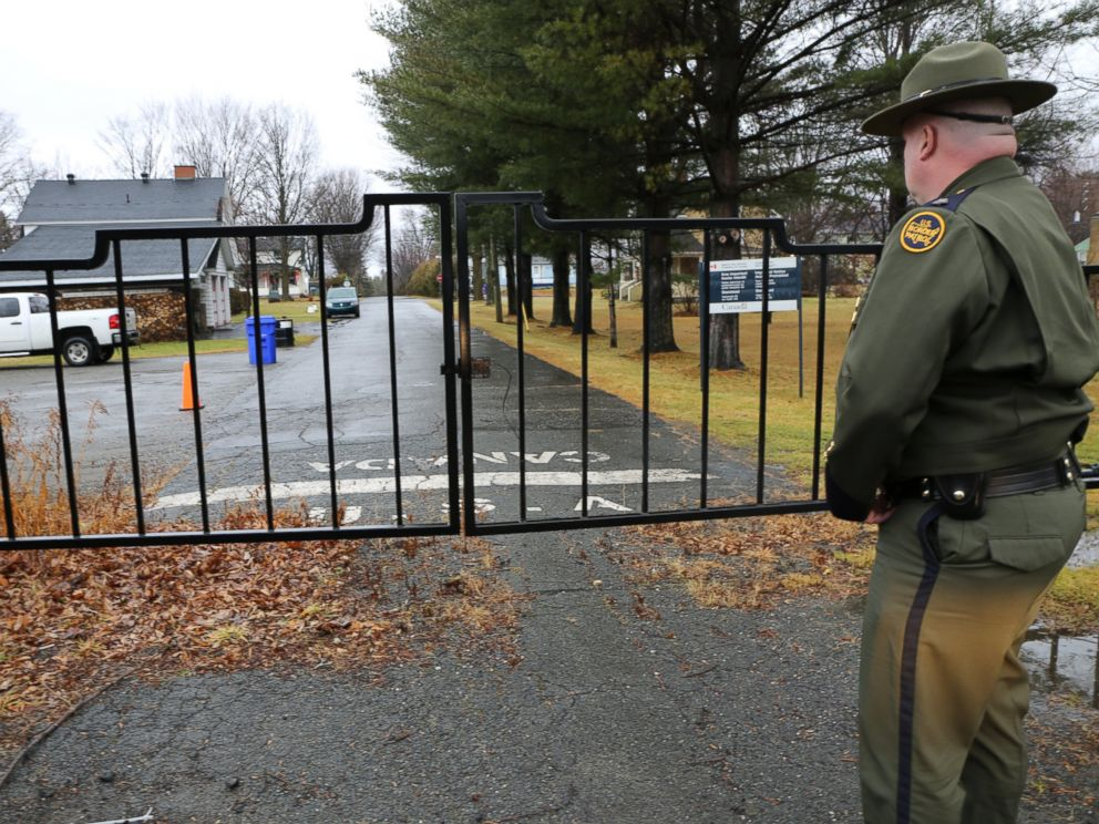 PHOTO: Acting division chief of the U.S. Border Patrols Swanton Sector, Bradley Curtis, stands next to a gate built along the U.S.-Canadian border. He claims the U.S. put it up a few years ago to thwart illegal crossings.