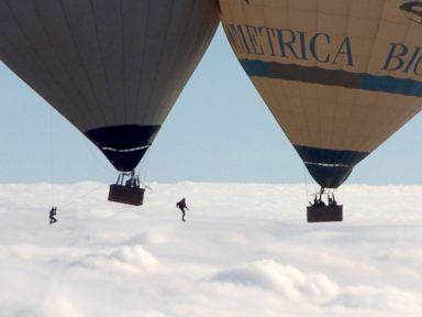 Watch French Daredevils' Hot Air Balloon Stunt