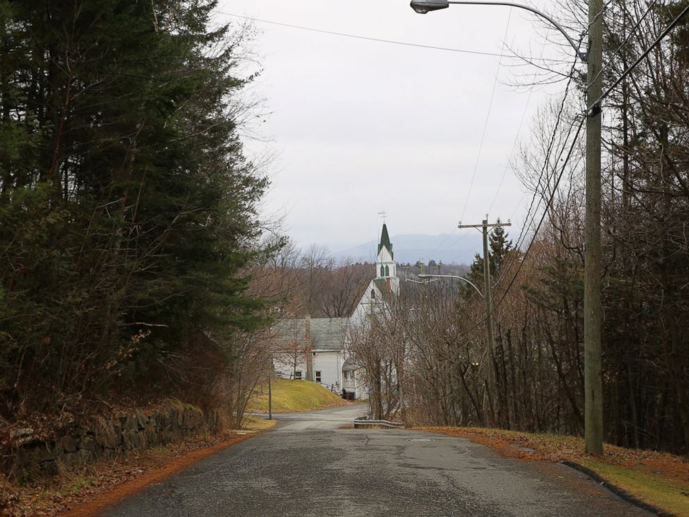 PHOTO: A look down a side street in the Canadian border town of Stanstead, Quebec. Residents have been close with neighboring American border town, Derby Line, Vt., for centuries.