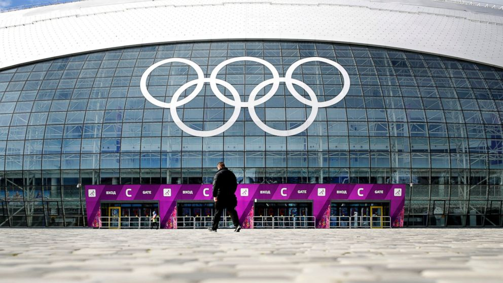 PHOTO: A man walks toward the Bolshoy Ice Dome, which is venue for Ice Hockey matches ahead of the 2014 Win