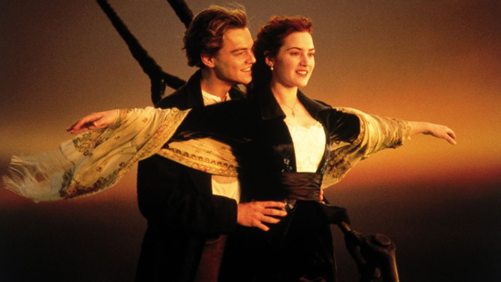 "PHOTO: Kate Winslet and Leonardo DiCaprio in the 1997 film ""Titanic."""