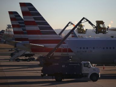 PHOTO: American Airlines airplanes at Ronald Reagan Washington National Airport Nov. 23, 2016, in Arlington, Virginia.