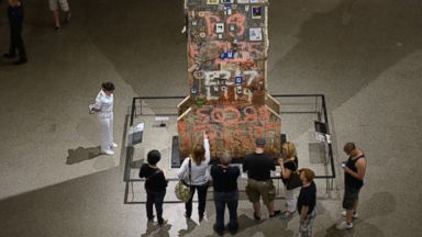 PHOTO: People visit the National 9/11 Memorial Museum in New York, May 25, 2014.