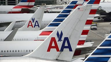 PHOTO: American Airlines passenger planes are seen on the tarmac at Miami International Airport in Miami, June 8, 2015.