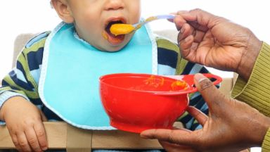 PHOTO: Gourmet baby food menus are the latest trend for well-heeled traveling tots.