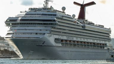 PHOTO: A Carnival Corp. cruise ship stands docked prior to departure at the Port of Miami in Miami, Fla. on March 9, 2014.
