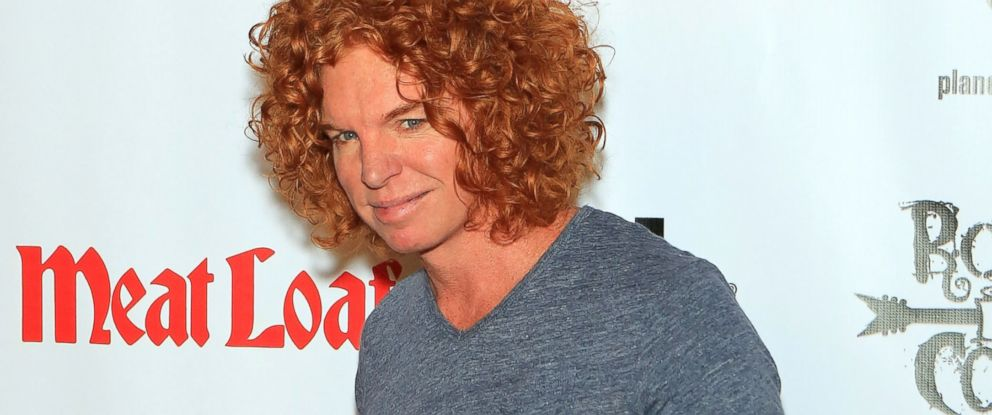 """PHOTO: Carrot Top arrives at the show """"RockTellz & CockTails presents Meat Loaf"""" at Planet Hollywood Resort & Casino, Oct. 3, 2013, in Las Vegas."""