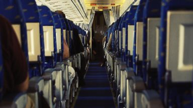PHOTO: A planes cabin with closely packed seats is seen in this undated file photo.