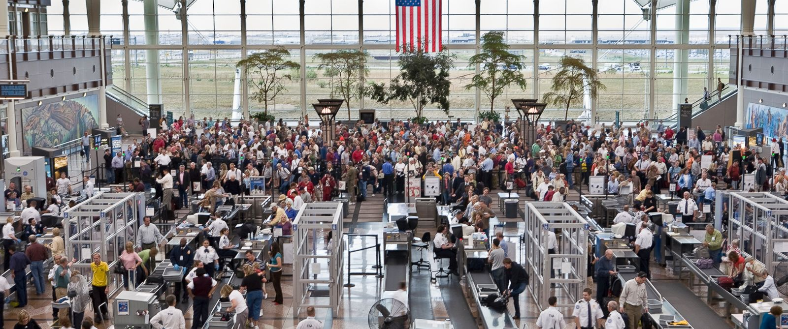 PHOTO: A view of security check-in at Denver International Airport is shown in this undated file photo.