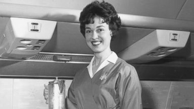 PHOTO: A 1950s flight attendant is seen in this undated file photo.