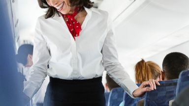 PHOTO: Flight attendants jobs require them to work nights, weekends, holidays, and often away from home.
