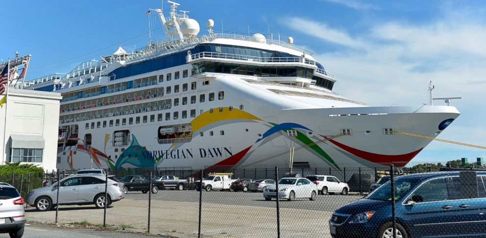 PHOTO: The Norwegian Dawn cruise liner sits at the Boston Cruise Terminal in South Boston, Sept. 6, 2013.