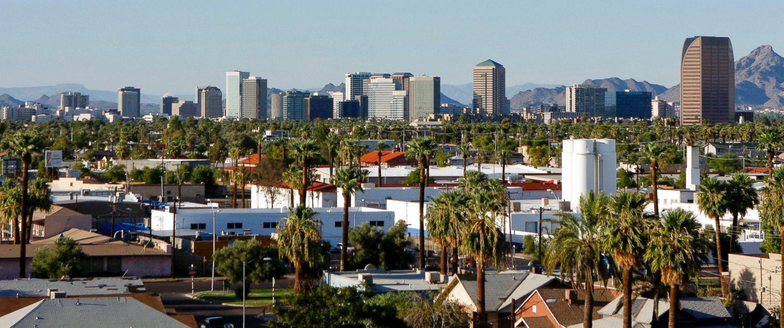 PHOTO: Buildings dot the skyline of Phoenix, Aug. 18, 2009.