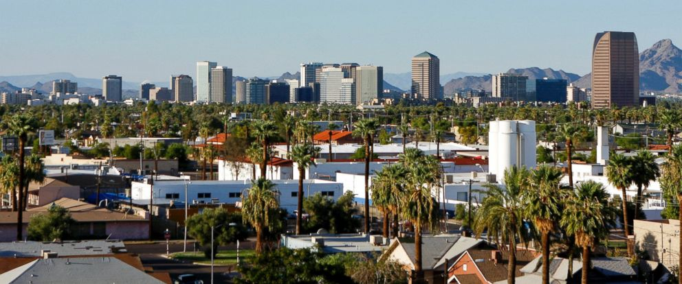 PHOTO: Buildings dot the skyline of Phoenix, Aug. 18, 2009.