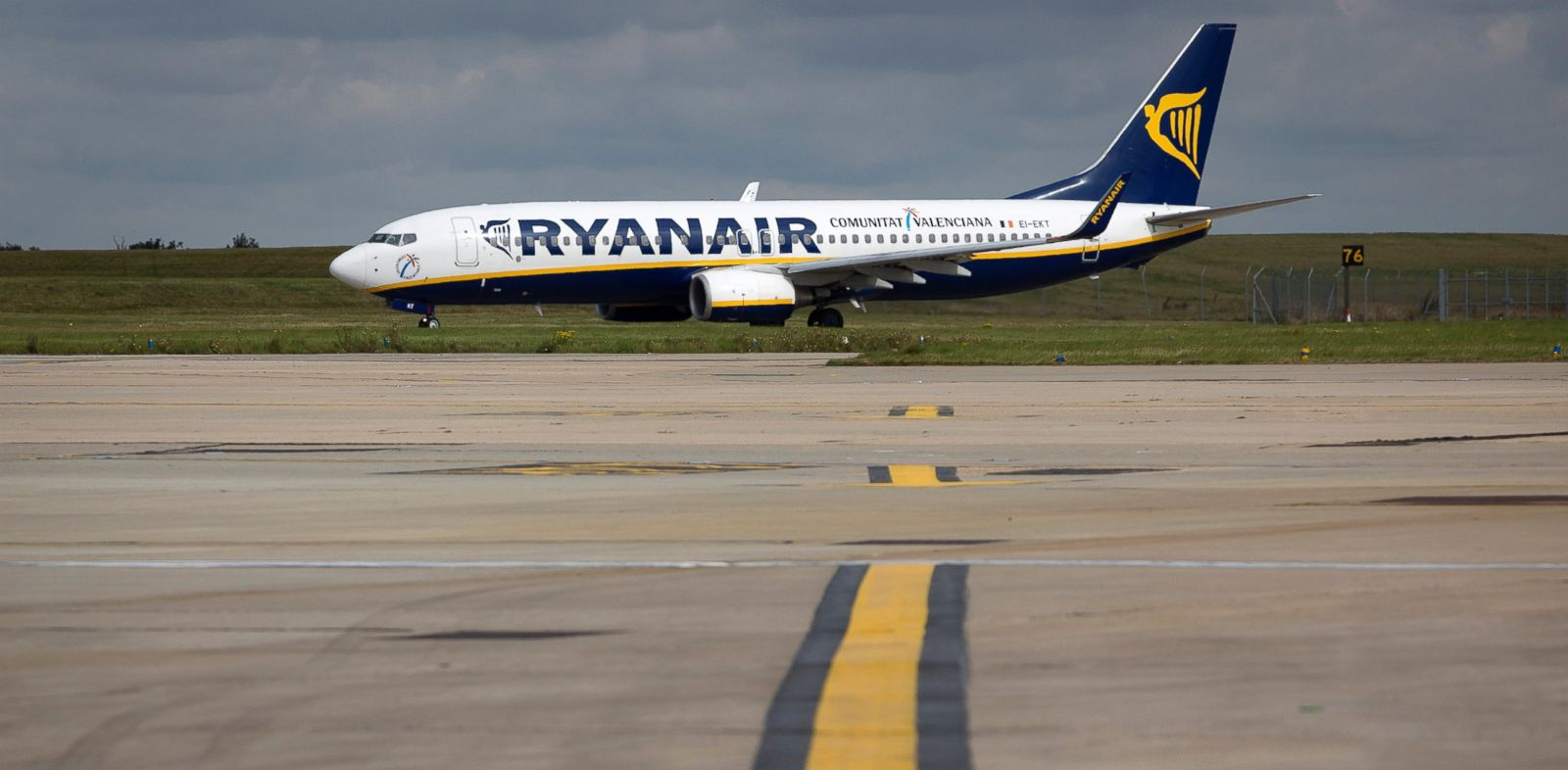 PHOTO: In this file photo, a Ryanair aircraft is pictured in Stansted, U.K. on Sept. 10, 2013.