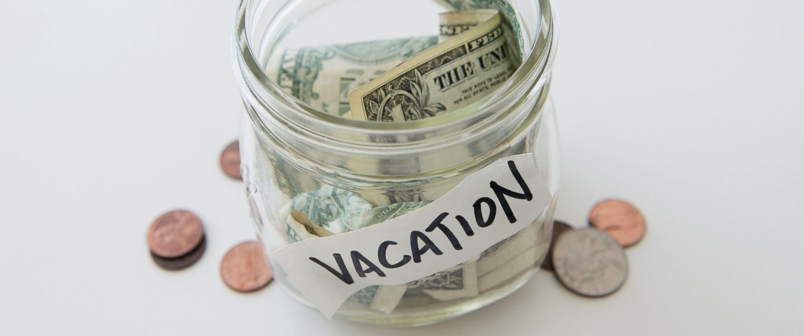 PHOTO: A vacation savings jar is pictured in this undated stock photo.