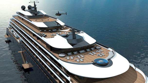 PHOTO: Ritz Carlton is venturing into the yacht business. Each of the three custom-built yachts, expected to set sail in 2019, will feature 149 suites, several lavish duplexes, a spa, a signature restaurant and a bar with on-board entertainment.