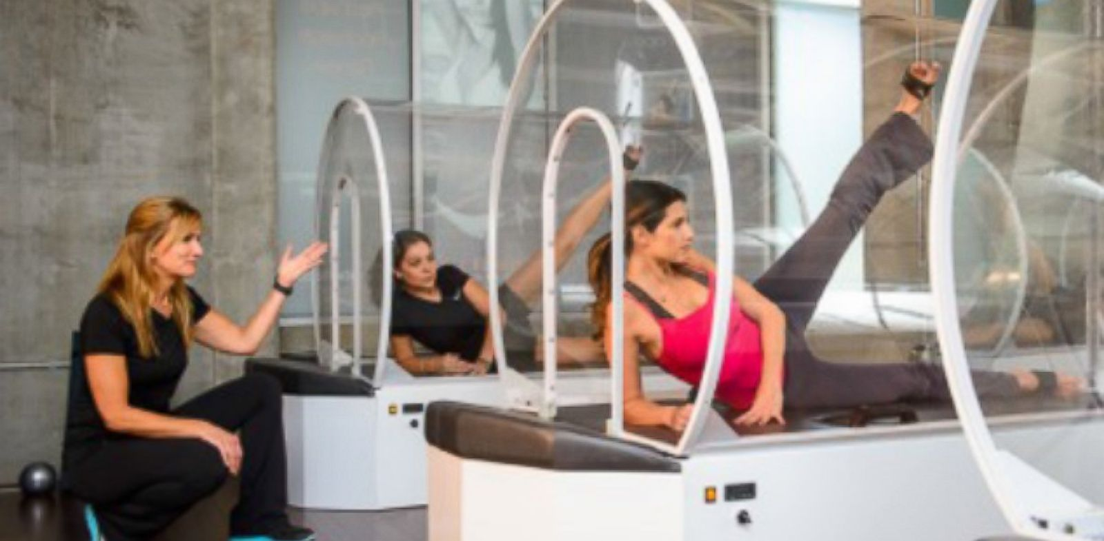 PHOTO: The Iobella workout involves 30 minutes in a pod heated to 98 degrees.