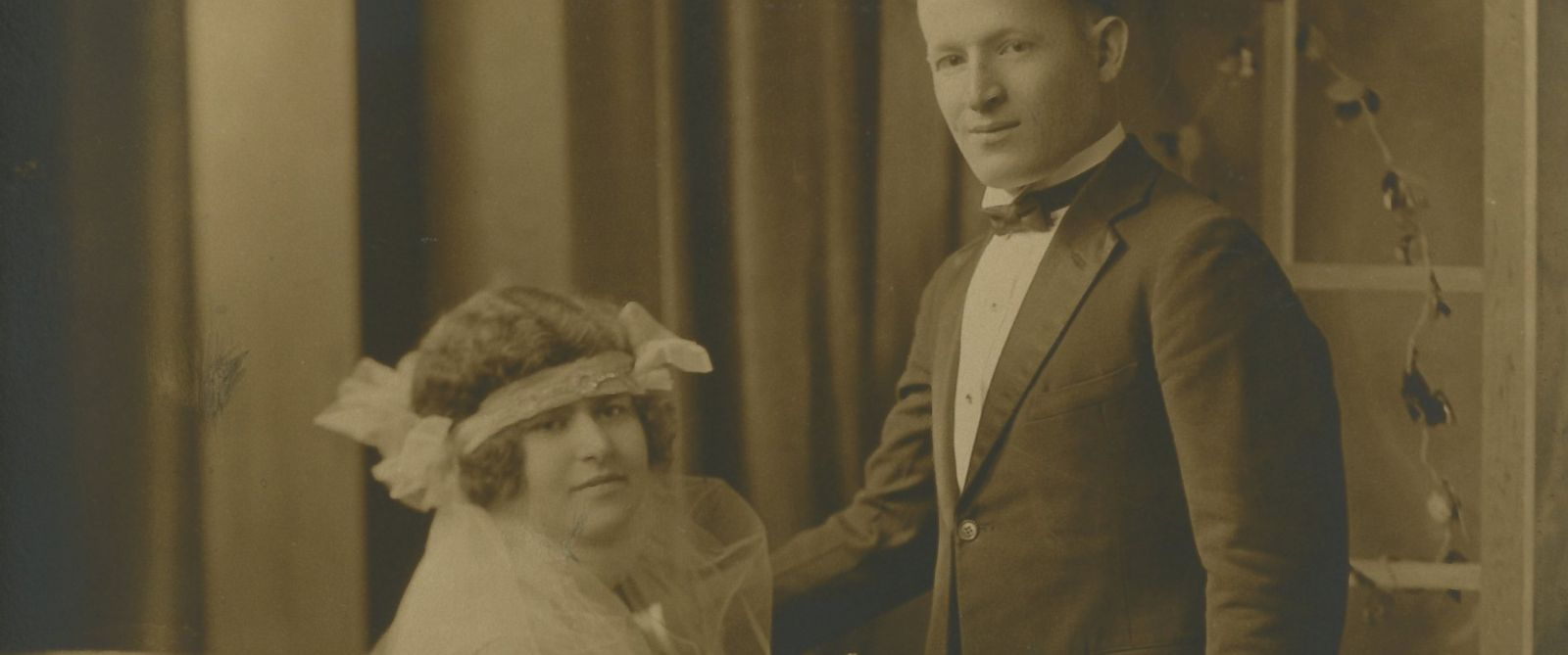 PHOTO: August 24, 1924: Morris & Dorothy Paschen (Parents of Bernalee) were married at The Pfister hotel.