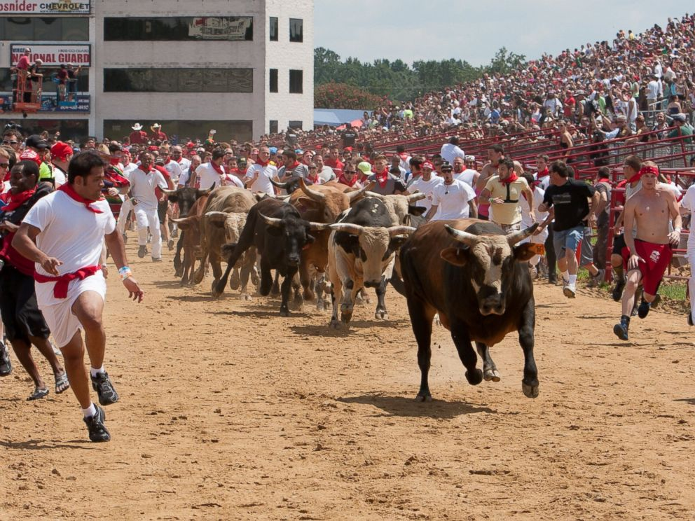 PHOTO: The Great Bull Run is a touring event series that brings a legendary Spanish tradition to a handful of cities in the United States.
