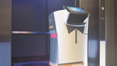PHOTO: A.L.O. the robotic butler will debut at the Aloft Cupertino on Aug. 20, 2014.