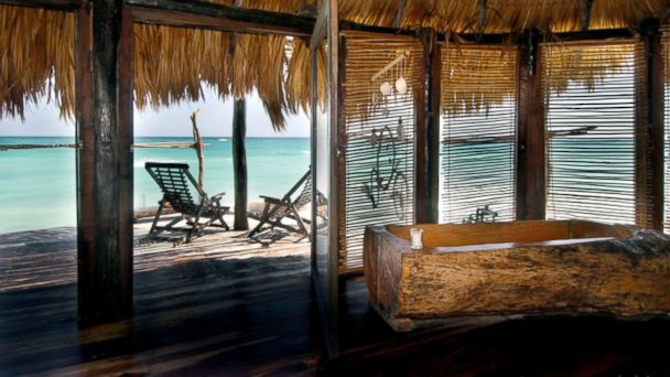 PHOTO: Azulik sea villas in Tulum, Mexico.
