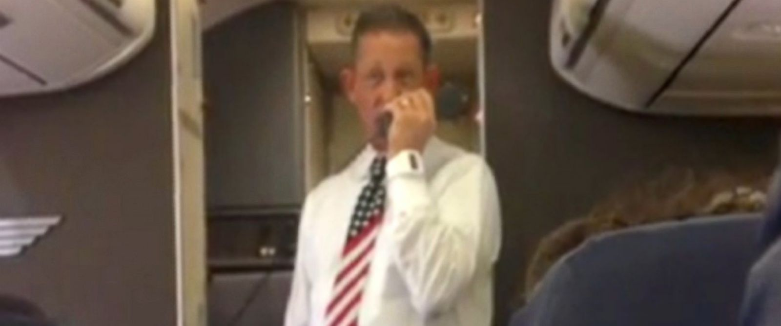 PHOTO: A flight attendant gives a hilarious safety speech.