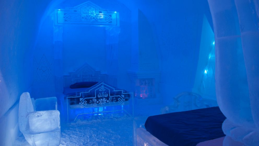 "PHOTO: The Walt Disney Sudios and Quebec Citys Hotel de Glace (Ice Hotel) unveil a special experiential ""Frozen"" themed guest suite and activity cave for the 2014 winter season."