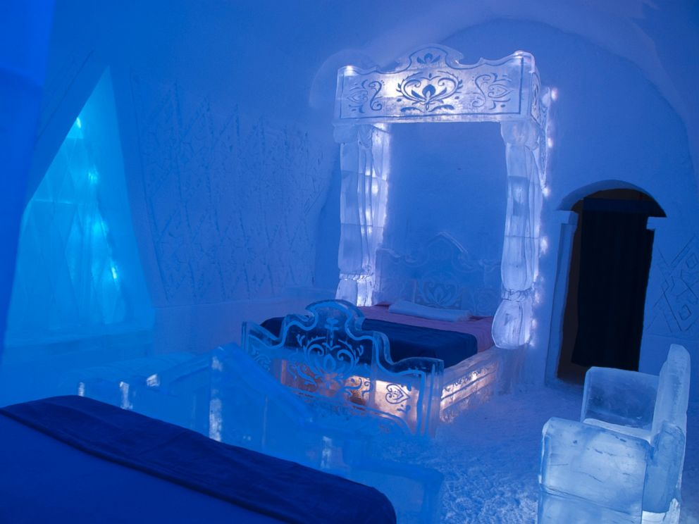 PHOTO: The Walt Disney Sudios and Quebec Citys Hotel de Glace (Ice Hotel) unveil a special experiential Frozen themed guest suite and activity cave for the 2014 winter season.