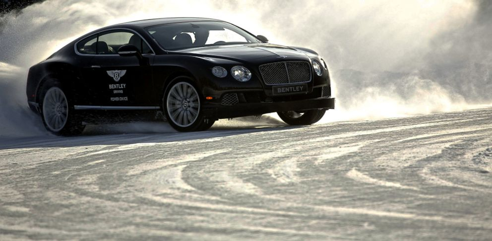 PHOTO: Bentleys Power on Ice driving experience in Finland is a four-day tour of extreme motoring conditions with luxurious amenities.