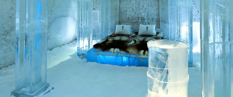 PHOTO: Ice Hotel launched a $231,000 build-your-own suite opportunity. Pictured is an example of a suite, posted to IceHotel.com.