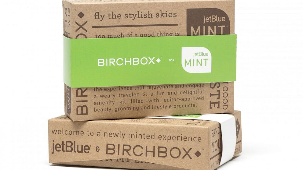 PHOTO: More and more airlines are adding tiny luxuries to their services to appeal to fliers, like the new Birchbox flight amenity kits being offered to Mint passengers on JetBlue.