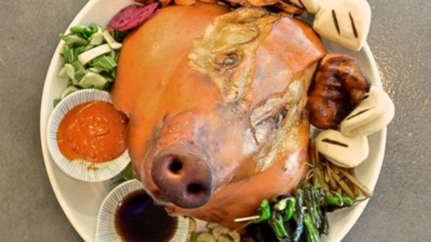 PHOTO: Whole Pigs Head at Yusho, Las Vegas