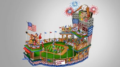 PHOTO: A rendering of the Cracker Jack Macys Thanksgiving Day Parade float. This is the first time a PepsiCo brand has had a float in the parade.