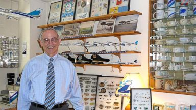 PHOTO: Marvin Goldman holds one of the worlds largest collections of El Al Airline memorabilia