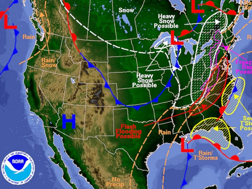 5 Most Menacing Thanksgiving Travel Maps ABC News – Travel Weather Map Forecast