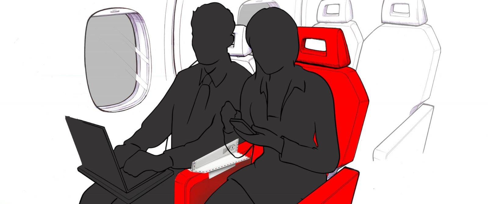 PHOTO: Soarigami could bring peace to the war over the airline armrest.